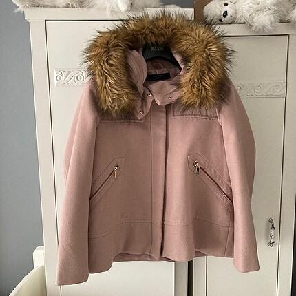 Orijinal Zara Mont Kaban | Pembe Kürklü Kaban