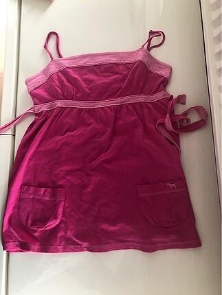 Pink askili bluz