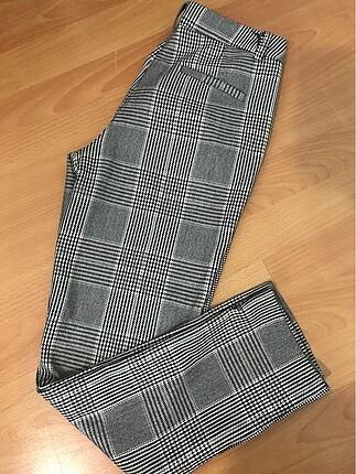 Ekoseli kumaş pantolon
