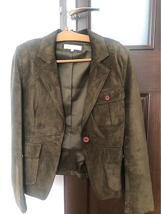 Haki süet ceket