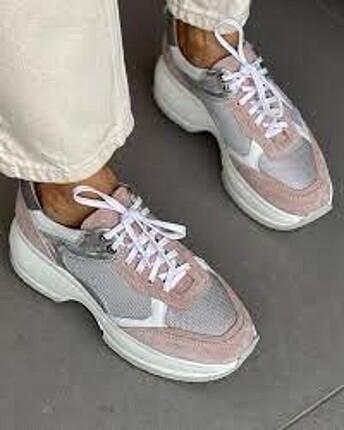 Neslihan Canpolat pudra süet sneaker