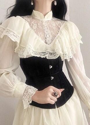 siyah corset-korse