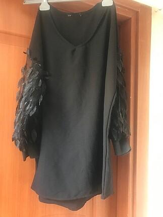 Kollar transparan bluz