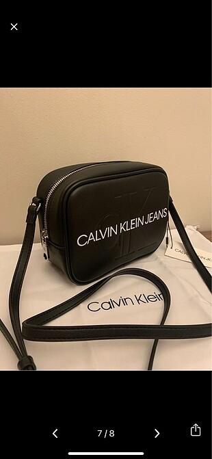 Calvin Klein siyah çapraz askılı çanta