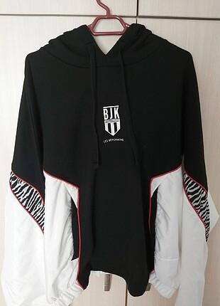 Siyah Beyaz Oversize Sweatshirt