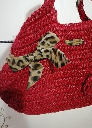 De vib hasır kol çantası