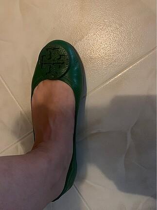 Tory Burch Yeşil Babet Ayakkabı