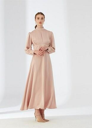 Hülya İnce Soğan Kabuğu Ella Dress Elbise