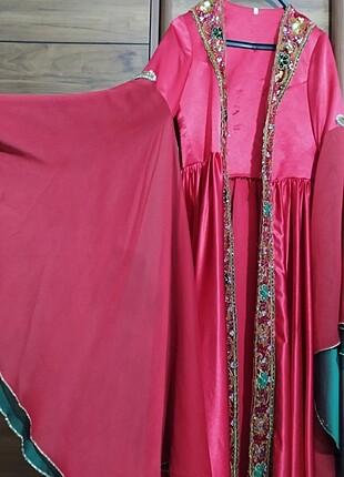m Beden kırmızı Renk Bindallı kına elbisesi