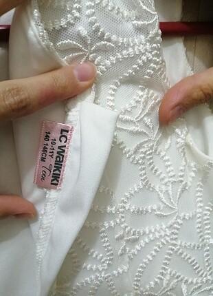 Beyaz çocuk elbise