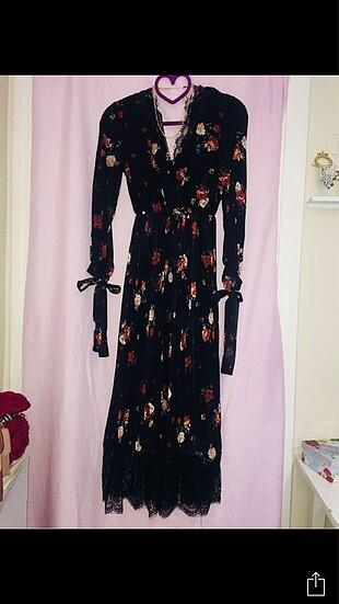 38 Beden Uzun pileli elbise