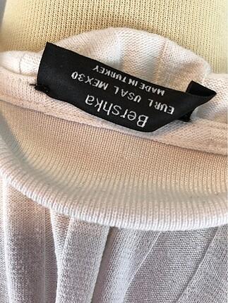 l Beden beyaz Renk Polo Yaka Tişört