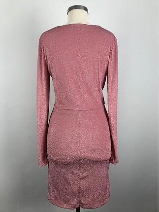 m Beden pembe Renk Şık elbise