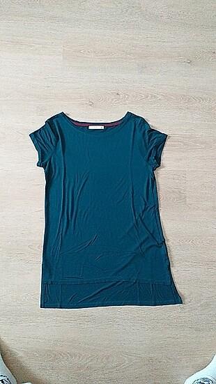 Yeşil uzun tişört