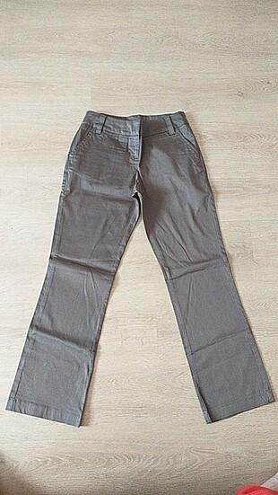Kahverengi kumaş pantolon