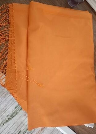 Beden turuncu Renk Armanda İpek Şal