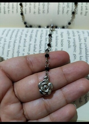 Çiçek Rosary fairy gothic kolye