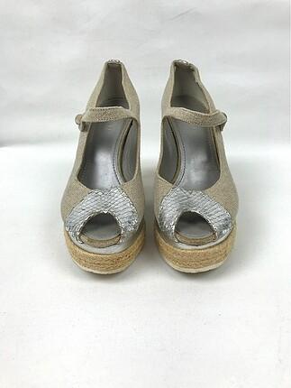 Hasır Topuk Ayakkabı