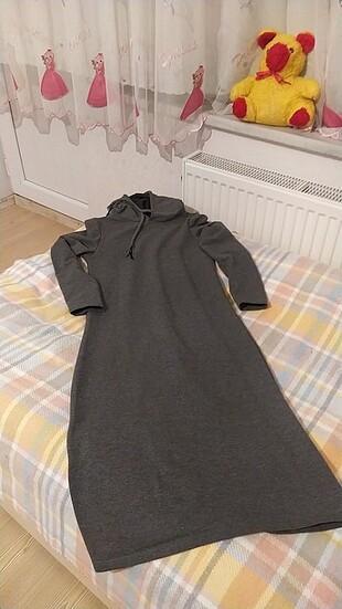 Kapşonlu elbise tunik