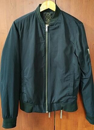 Erkek Bomber yaka siyah ceket