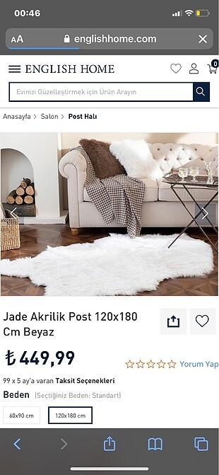 Beyaz tüylü halı