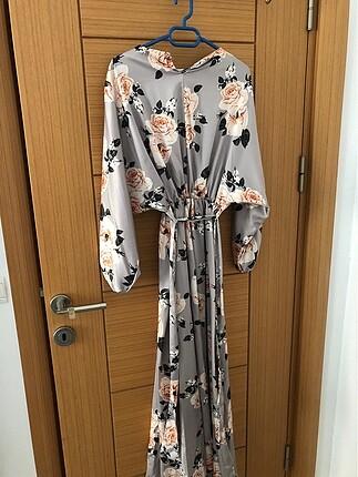Designer Çiçek desenli elbise