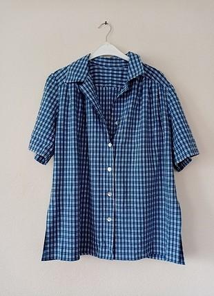 Vintage Kareli Gömlek