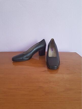 Vintage Kahverengi Topuklu Ayakkabı