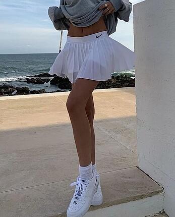 Nike beyaz tenis eteği