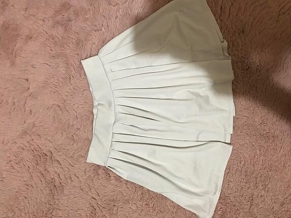 xs Beden beyaz Renk beyaz tenis eteği