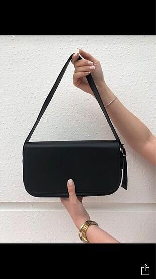 Siyah baget çanta