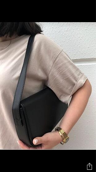 Zara Siyah baget çanta