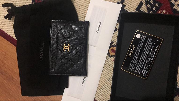 universal Beden siyah Renk Chanel Card Holder