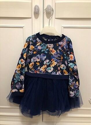BgStore Kadife Kız Çocuk Elbise - 24ay