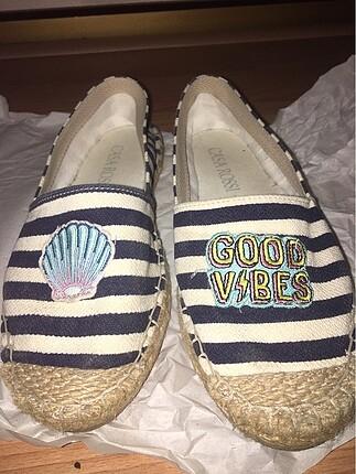 Espadril ayakkabı babet sandalet