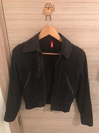 HM kadife siyah kot ceket