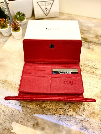 Beden kırmızı Renk Guess cüzdan