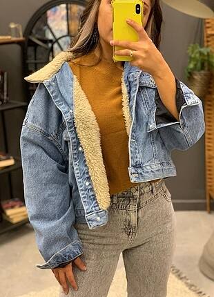 İçi kürklü kot ceket