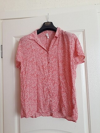 Defacto çiçekli düğmeli yazlık gömlek