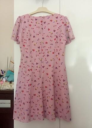 40 Beden mor Renk Milla elbise