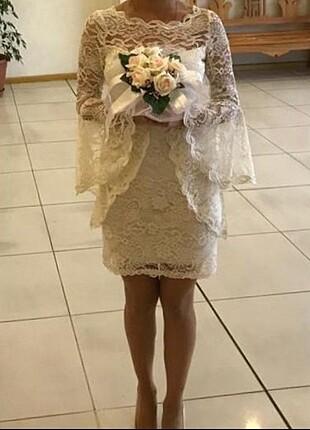 dantelli mini elbise