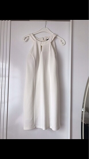 Elbise beyaz small beden yeni