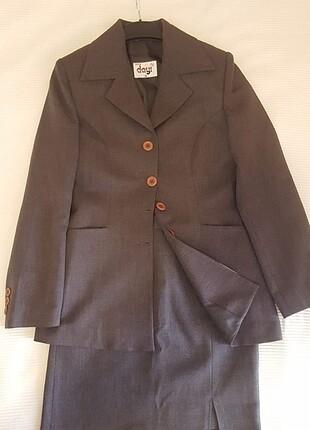 Dayı Butik kadın 36 beden gri etek ceket takım elbise