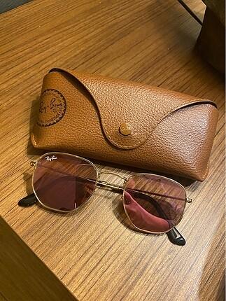 Rayban pembe ayna camlı gözlük