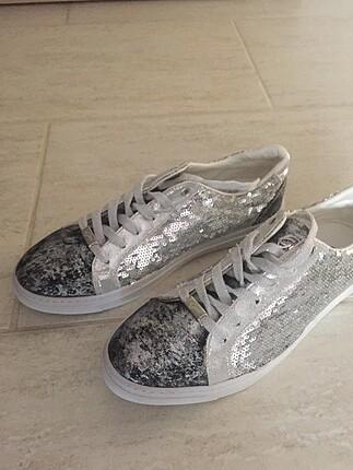Divarese gümüş sıfır sneaker