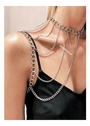 Punk kol boyun zinciri harajuku tarz kol ve boyun yerleri ayarla