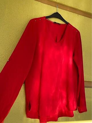 l Beden kırmızı Renk Setre kırmızı bluz
