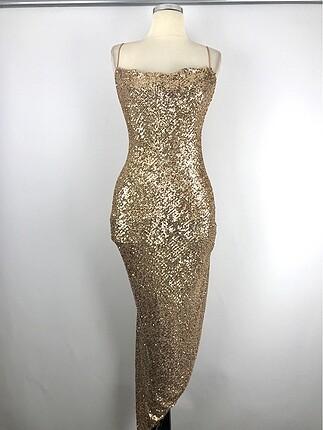 36 Beden Tasarım Şık Elbise