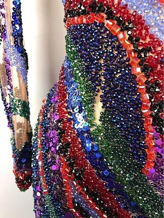36 Beden Kısa Tasarım Elbise