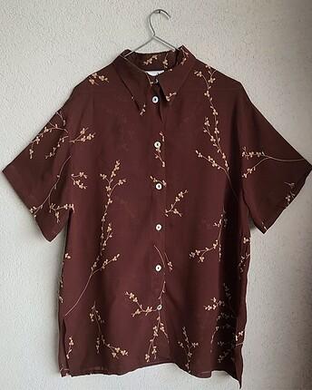 çiçekli tül gömlek